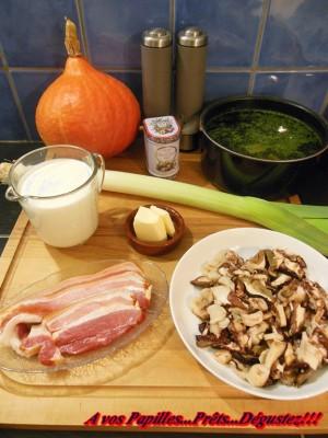 Velouté de potimarron aux lamelles de cèpes (Recette du Chef Régis Marcon)